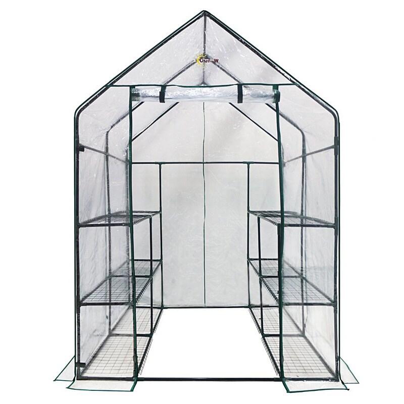 Ogrow Deluxe Walk-in 3-tier 12-shelf Portable Greenhouse ...