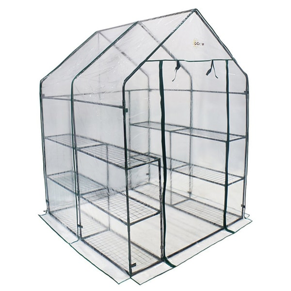 Ogrow Deluxe Walk In 3 Tier 12 Shelf Portable Greenhouse   Free Shipping  Today   Overstock.com   15707269