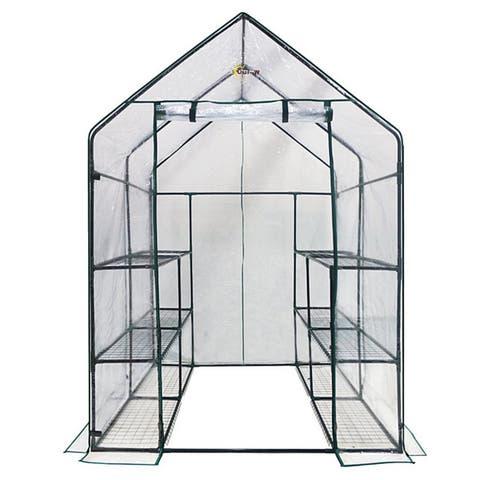 Ogrow Deluxe Walk-in 3-tier 12-shelf Portable Greenhouse