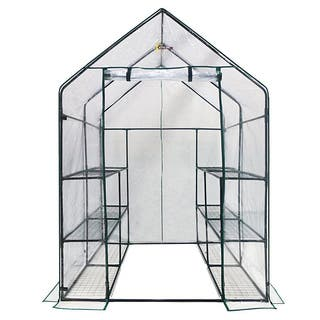 Ogrow Deluxe Walk-in 3-tier 12-shelf Portable Greenhouse|https://ak1.ostkcdn.com/images/products/8407268/P15707269.jpg?impolicy=medium