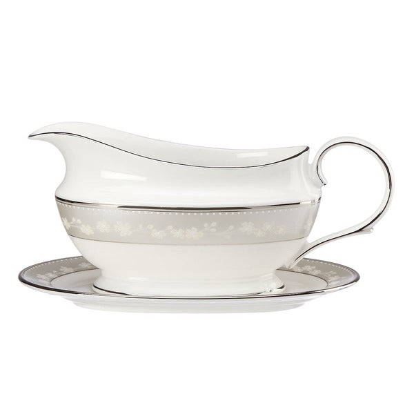 Lenox Bellina Sauce Boat and Saucer