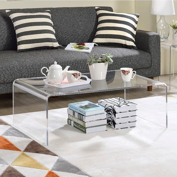 Clear Acrylic Coffee Table On Free Shipping