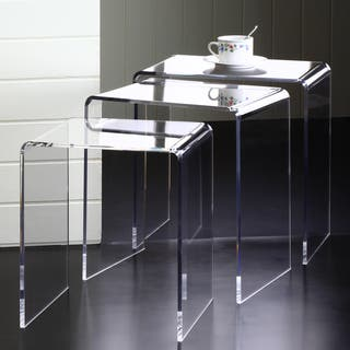 Clear Acrylic Nesting Tables (Set of 3)|https://ak1.ostkcdn.com/images/products/8407293/8407293/Clear-Acrylic-Nesting-Tables-Set-of-3-P15707280.jpg?impolicy=medium