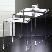 Clear Acrylic Square Nesting Tables (Set of 3)