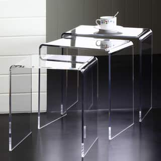 Clear Acrylic Nesting Tables Set Of 3