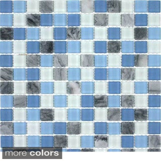 Glacier Mountain Squares Tiles (10.56 Square Feet)
