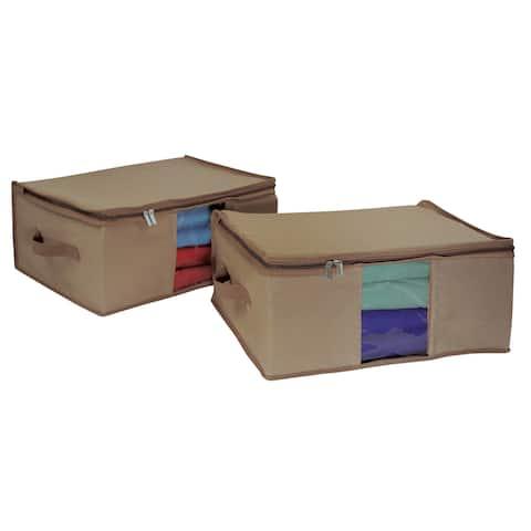 Richards Homewares Cedar Insert Canvas Storage Bag Set (Set of 2)