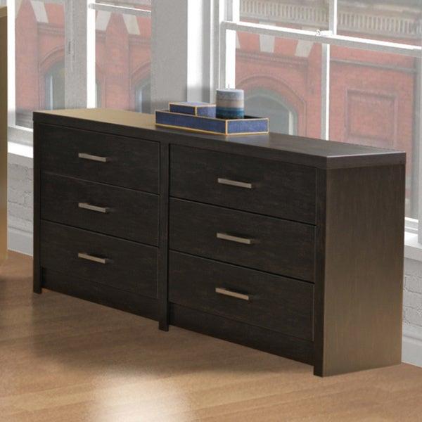 Washed Black Hudson 6-Drawer Dresser