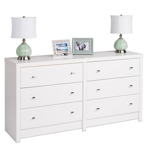 Pure White Nolita 6-drawer Dresser