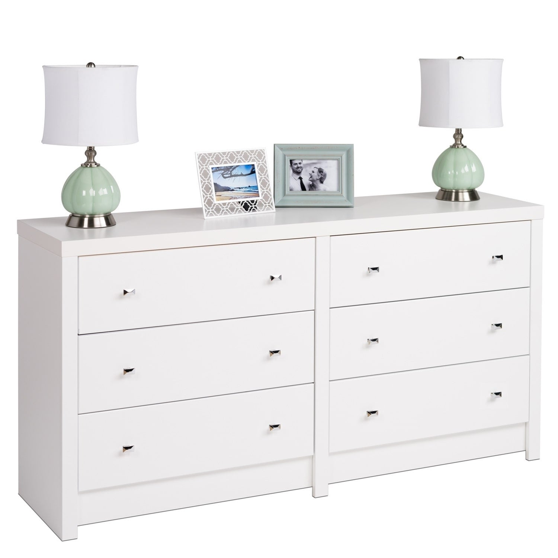 Merveilleux Pure White Nolita 6 Drawer Dresser