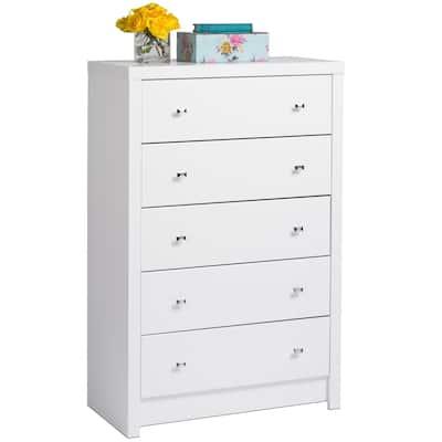 Pure White Nolita 5-drawer Chest