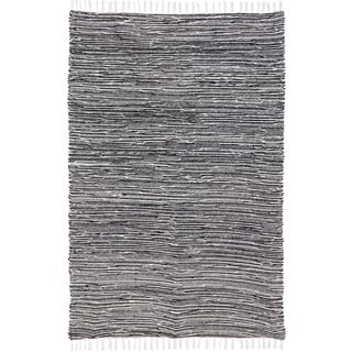 Black Reversible Chenille 8 x 10 Flat Weave Rug - 8' x 10'