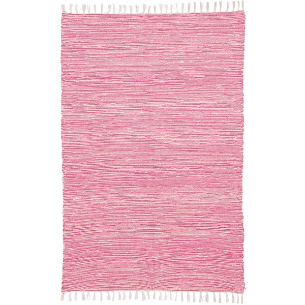Pink Reversible Chenille Flat Weave Rug (8' x 10') - 8' x 10'
