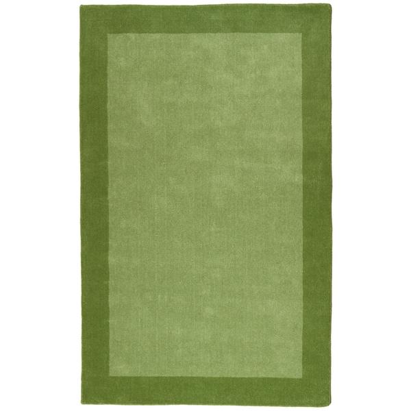 Green Border Pulse 5x8-foot Hand Tufted Wool Rug - 5' x 8'