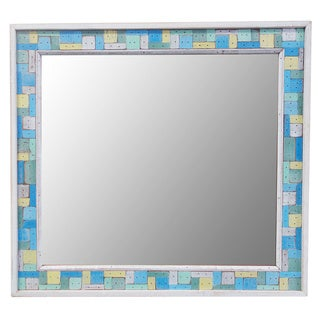 Block Party Recycled Wooden Mirror (Thailand)