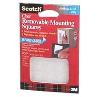 Scotch Mounting Squares Precut Removable 11/16 x 11/16 Clear 35/Pack