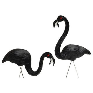 21-32-inch Halloween Zombie Feeding Flamingo (Set of 2)