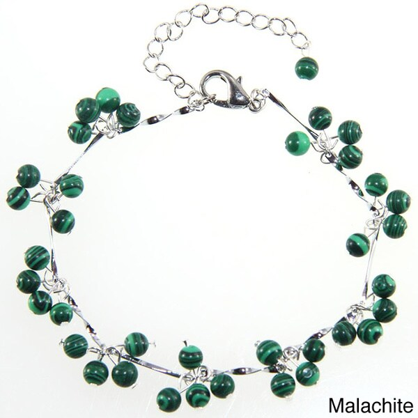 Handmade Malachite or Agate Beaded Bracelet (China)