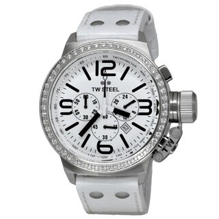 TW Steel Unisex 'Canteen' Stainless Steel Chronograph and Tachymeter TW10 Watch