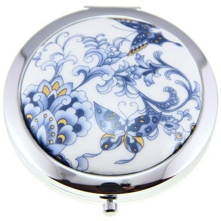 Handmade Porcelain Butterfly Cosmetic Mirrors (China)