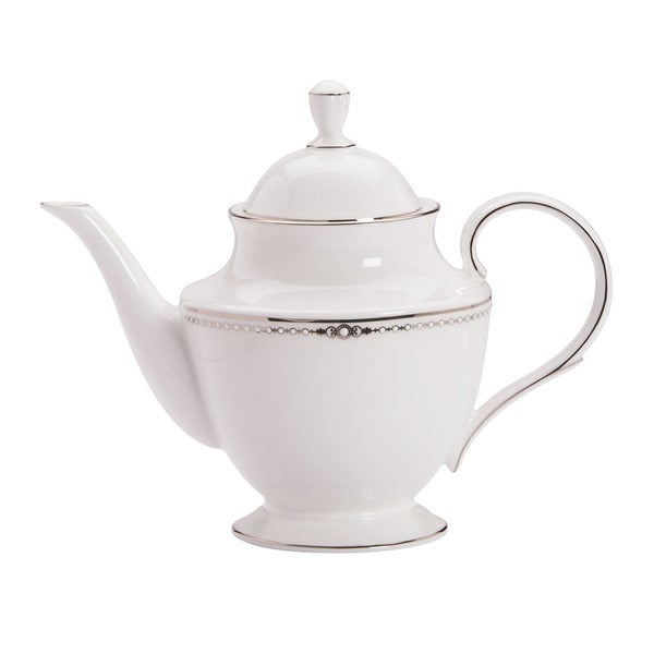 Lenox Pearl Platinum Tea Pot