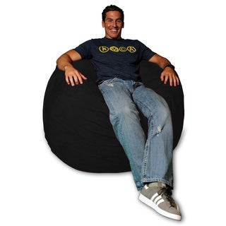 4-foot Memory Foam Micro Suede Beanbag Chair