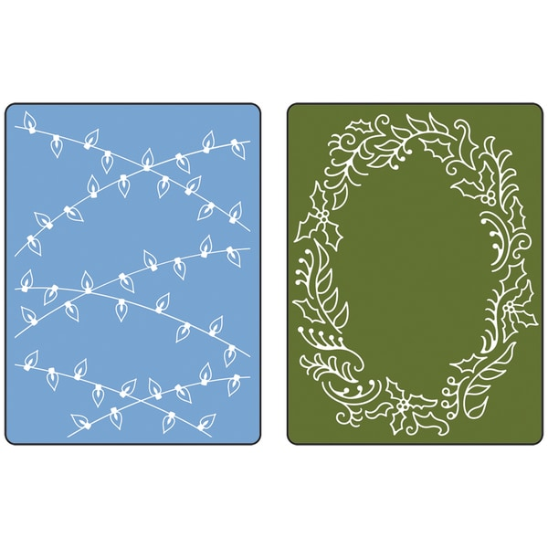 Sizzix Textured Impressions Christmas Lights Embossing Folders (Pack of 2)