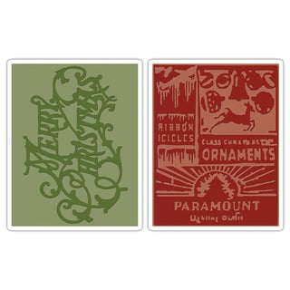 Sizzix Texture Fades Christmas Embossing Folders (Pack of 2)