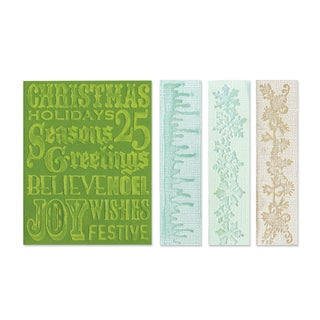 Sizzix Texture Fades Christmas Embossing Folders (Pack of 4)