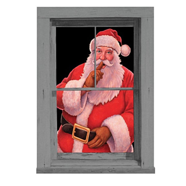 35-inch Wide Santa Poster