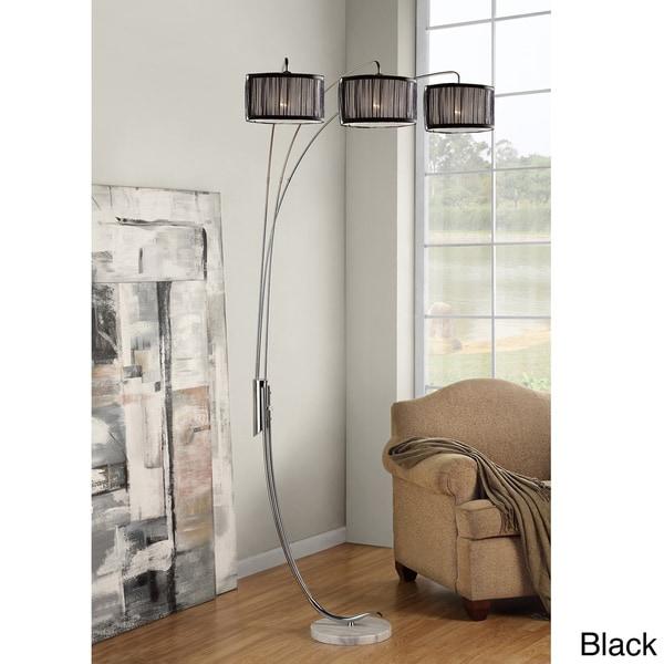 Tribecca home modern 3 light chrome metal arch floor lamp for Modern 3 light chrome metal arch floor lamp