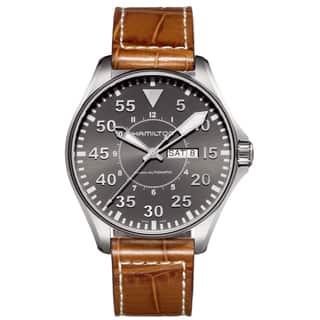 Hamilton Khaki Pilot 46mm H64715885 Watch|https://ak1.ostkcdn.com/images/products/8408215/8408215/Hamilton-Khaki-Pilot-46mm-H64715885-Watch-P15708057.jpg?impolicy=medium