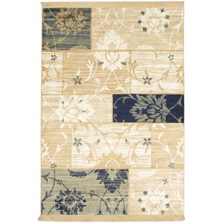 Cream Soraya Patch Rug - 4'5 x 6'5