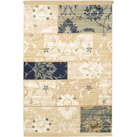 Soraya Cream Patch Area Rug - 3'1 x 4'7
