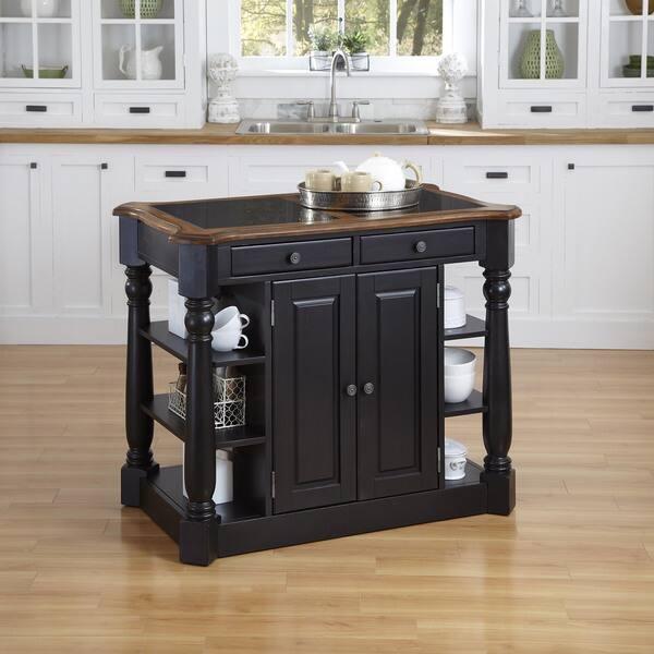 Shop Americana Granite Kitchen Island by Home Styles - Free ...