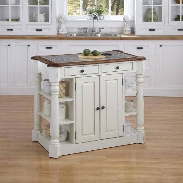 Home Styles Americana Granite Kitchen Island
