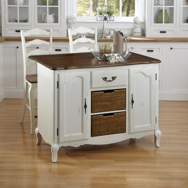 Countryside Kitchen: Shop The French Countryside Kitchen Island And Two Stools