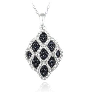Glitzy Rocks Sterling Silver Black Spinel Necklace