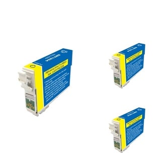 INSTEN Epson T125420 Yellow Cartridge Set (Remanufactured) (Pack of 3)