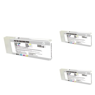 INSTEN Epson T544100PBK Black Cartridge Set (Remanufactured) (Pack of 3)