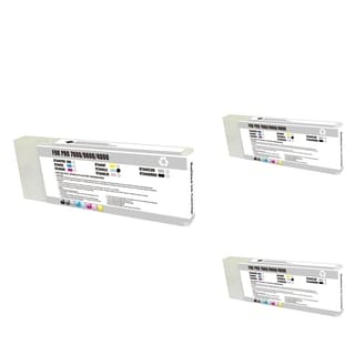 INSTEN Epson T544500 LC Light Cyan Cartridge Set (Remanufactured) (Pack of 3)