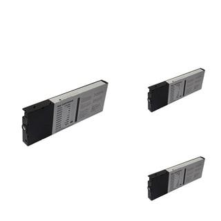 INSTEN Epson T6148MBk Black Cartridge Set (Remanufactured) (Pack of 3)