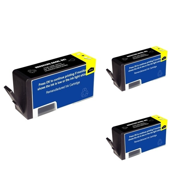 Refilled Insten Black Remanufactured Ink Cartridge Replacement for HP