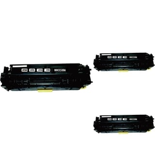 INSTEN Black Cartridge Set for HP CC530A (Pack of 3)