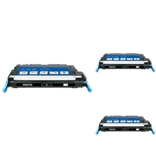 INSTEN Black Cartridge Set for HP Q6470A (Pack of 3)