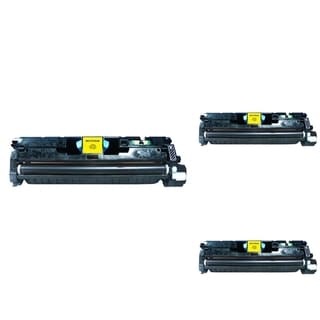 INSTEN Yellow Cartridge Set for HP C9702A (Pack of 3)