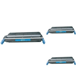 INSTEN Cyan Cartridge Set for HP C9731A (Pack of 3)