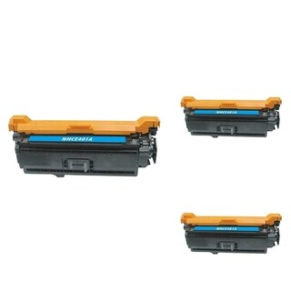 INSTEN Cyan Cartridge Set for HP CB401A (Pack of 3)