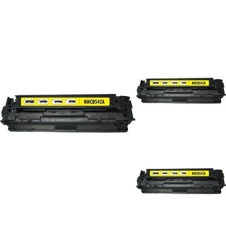 INSTEN Yellow Cartridge Set for HP CB542A (Pack of 3)