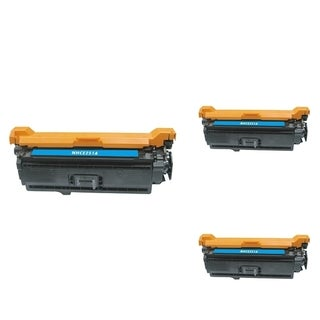 INSTEN Cyan Cartridge Set for HP CE251A (Pack of 3)